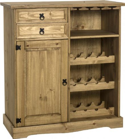 Sideboard / Wine Rack Unit Pine